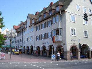 町の中心の回廊