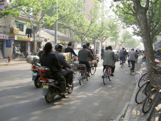原チャと自転車